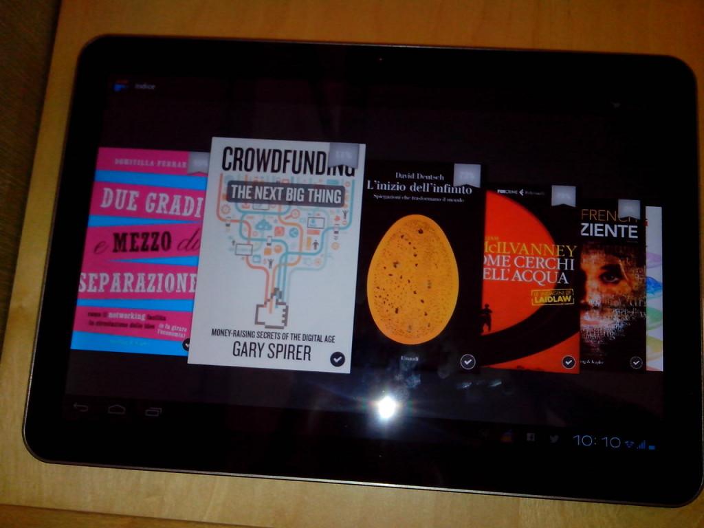 Senza spalla - App Kindle