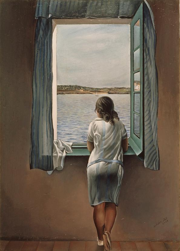"""""""Ragazza alla finestra"""", Salvador Dalì, 1925"""