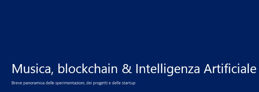 Musica, blockchain & IA