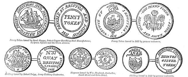 Bristol trade tokens